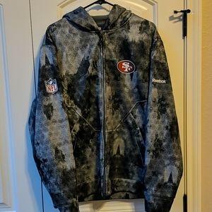 Reebok On Field 49ers Hoodie Jacket